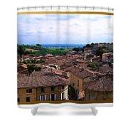 St. Emilion View Shower Curtain by Joan  Minchak