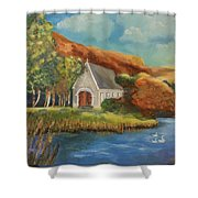 St. Finbarr's Oratory, Gougane Barra, Cork Shower Curtain