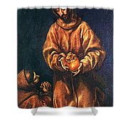 St Francis And Brother Rufus 1606 Shower Curtain