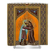 St. Francis And The Sultan - Rlsul Shower Curtain