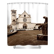 St. Francis Basilica, Assisi  Shower Curtain