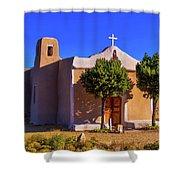 St. Francis De Assisi Adobe Church Shower Curtain