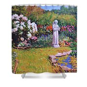 St. Francis In The Garden Shower Curtain