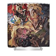 St George And The Dragon Shower Curtain