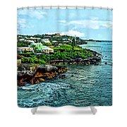 St. George Bermuda Shoreline Shower Curtain