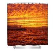 St. George Island Sunset Shower Curtain