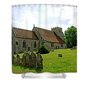 St George's Church At Arreton Shower Curtain by Rod Johnson