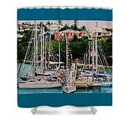 St. George's Yacht Club Bermuda Shower Curtain