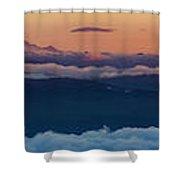 St. Helens, Ranier, Adams Shower Curtain
