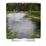 St Joe Bridge Shower Curtain