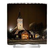 St Joes Church Mandan 6 Shower Curtain