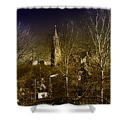 St. John The Baptist From The Rail Road Trestle In Manayunk Shower Curtain