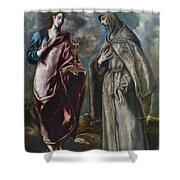 St. John The Evangelist And St. Francis Of Assisi Shower Curtain