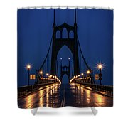 St Johns Bridge Shine Shower Curtain