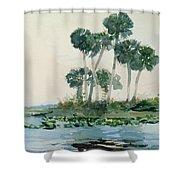 St John's River Florida Shower Curtain