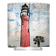 St Johns River Lighthouse Florida Shower Curtain
