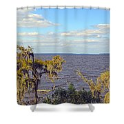 St. Johns River Meets The Ocean Shower Curtain