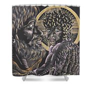 St. Joseph And The Child Jesus Shower Curtain
