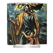 St Joseph And The Christ Child 1599 Shower Curtain