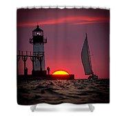 St. Joseph Michigan Sail Shower Curtain