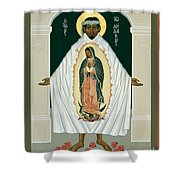 St. Juan Diego And The Miracle Of Guadalupe - Rljdm Shower Curtain