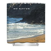 St Kitts Poster Shower Curtain
