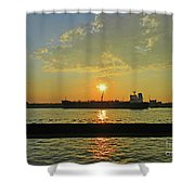 St Lawrence Sunset 3 Shower Curtain