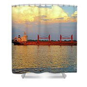 St Lawrence Sunset 5 Shower Curtain
