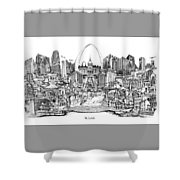 St. Louis 4 Shower Curtain