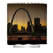 St Louis Arch At Sunset Shower Curtain