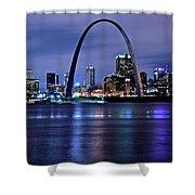 St Louis Black N Blue Shower Curtain