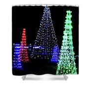 St Louis Botanical Gardens Christmas Lights Study 4 Shower Curtain