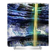 St. Louis Canyon Liquid Gold Shower Curtain
