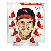 St. Louis Cardinals 1953 Yearbook Shower Curtain