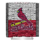 St Louis Cardinals Brick Wall Framed Print By Joe Hamilton
