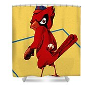 St. Louis Cardinals Vintage 1956 Program Shower Curtain