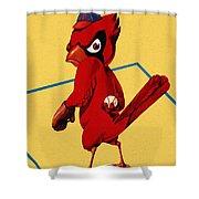 St. Louis Cardinals Vintage 1956 Program Shower Curtain