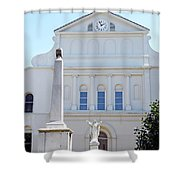 St. Louis Cathedral Back Lawn Shower Curtain