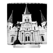 St. Louis Cathedral Drama In New Orleans Shower Curtain