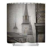 St. Louis Cathedral From Chartres St. - Nola Shower Curtain