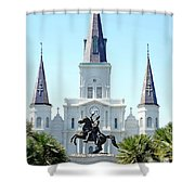 St. Louis Cathedral From Jackson Square Shower Curtain