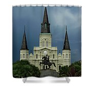 St Louis Cathedral In Jackson Square Shower Curtain