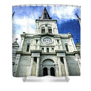 St. Louis Cathedral - Nola- Art Shower Curtain