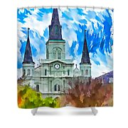 St. Louis Cathedral - Paint Shower Curtain