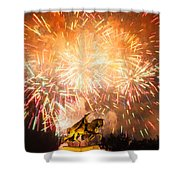 St. Louis Fireworks Shower Curtain
