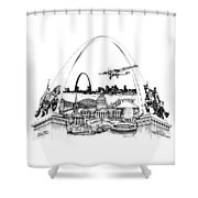 St. Louis Highlights Version 1 Shower Curtain