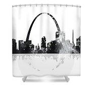 St Louis Missouri Skyline Shower Curtain