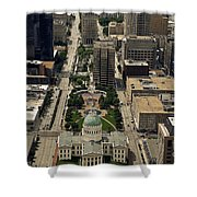 St. Louis Overview Shower Curtain