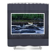 St Louis River Scrapbook Page 1 Shower Curtain
