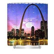 St Louis Skyline As Night Falls Shower Curtain